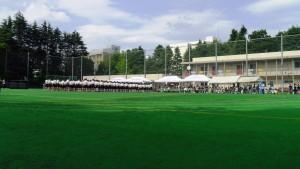音羽中学校のグラウンド